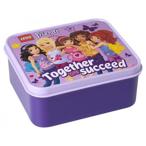 Lego Friends Box na svačinu fialový