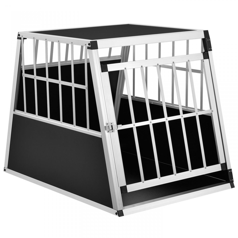 Goleto Přepravní hliníkový box pro psy do auta 65 x 91 x 69 cm