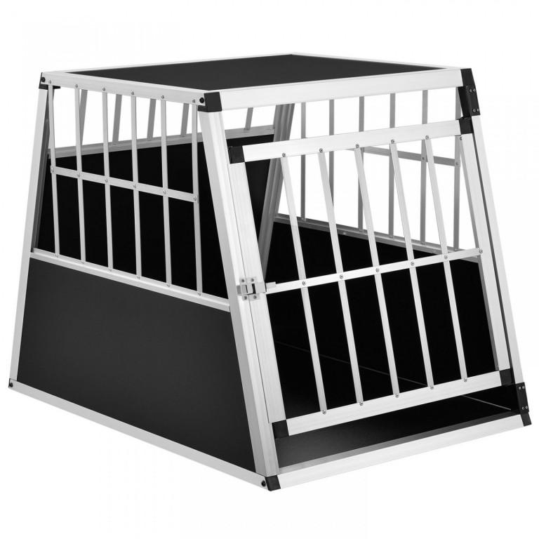 Přepravní hliníkový box pro psy do auta 65 x 91 x 69 cm