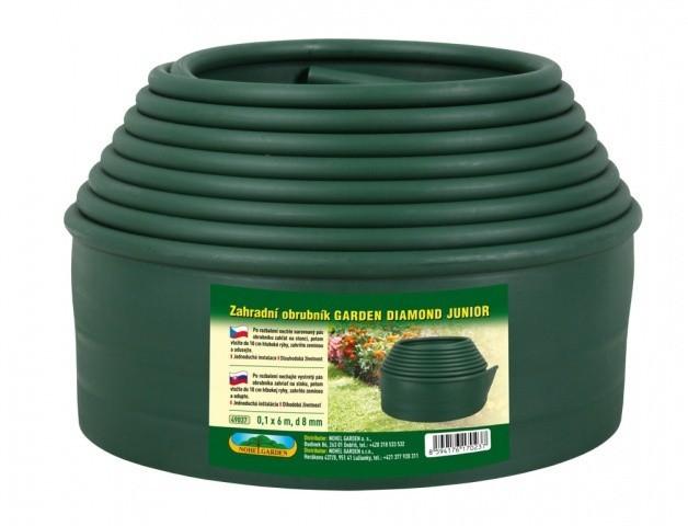 Zahradní obrubník Garden Diamond Junior 0,1mx6m/d8mm/ zelený