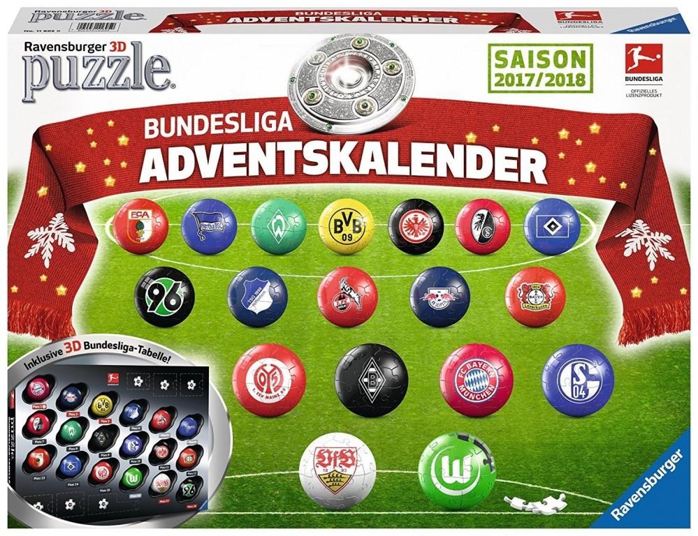 Adventní kalendář Bundesliga 3D Ravensburger