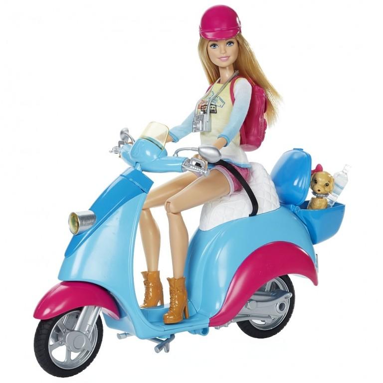 Mattel Barbie panenka a skútr