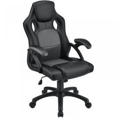 Kancelářská židle Racing design | šedo-černá č.1