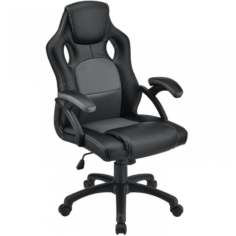 Kancelářská židle Racing design | šedo-černá