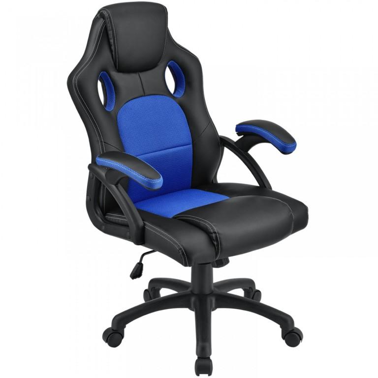 Kancelářská židle Racing design | modro-černá
