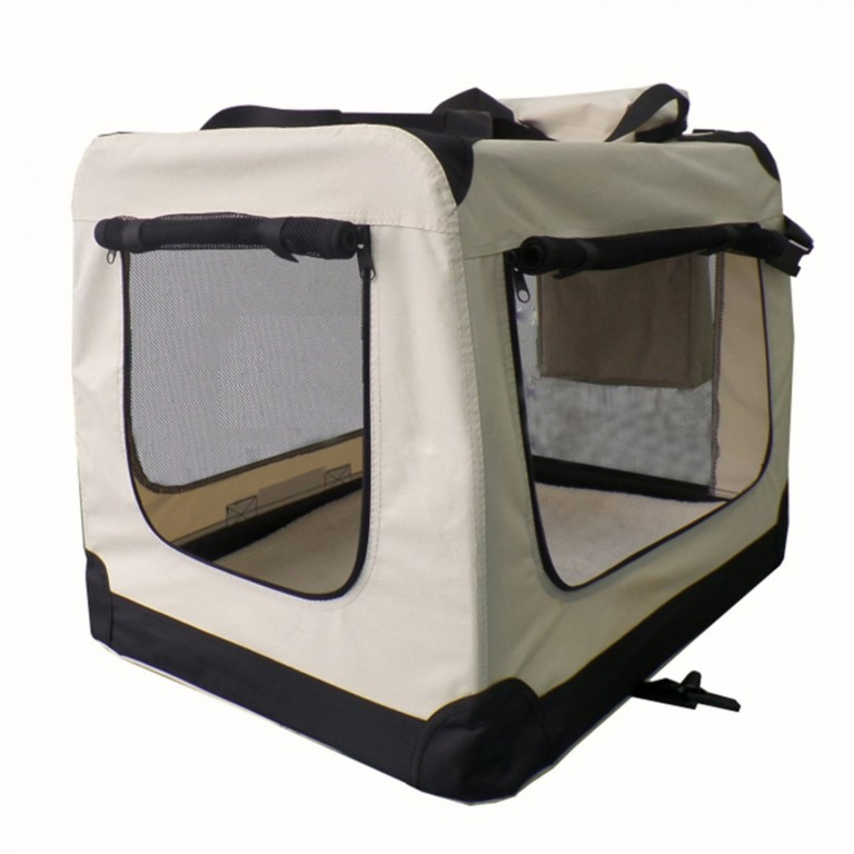 Přepravní box pro psy 50 x 34 x 36 cm | krémový