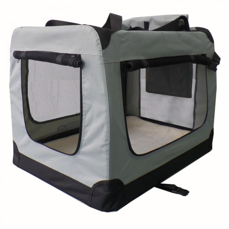 Přepravní box pro psy 50 x 34 x 36 cm | šedý