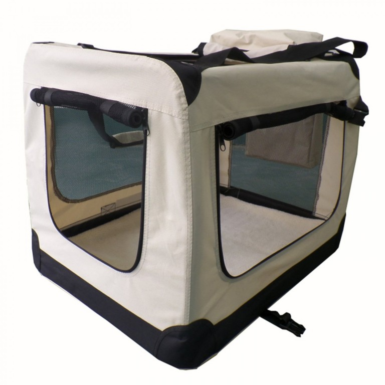 Přepravní box pro psy 70 x 52 x 50 cm | krémový