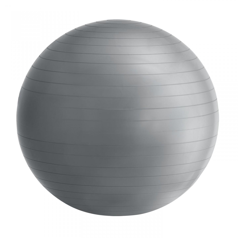 Goleto Gymnastický míč 75 cm s pumpou, šedý