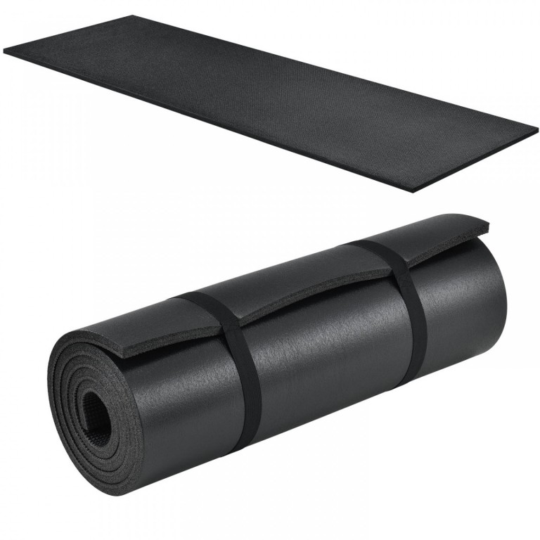 Gymnastická podložka na cvičení 185 x 60 x 1 cm, černá