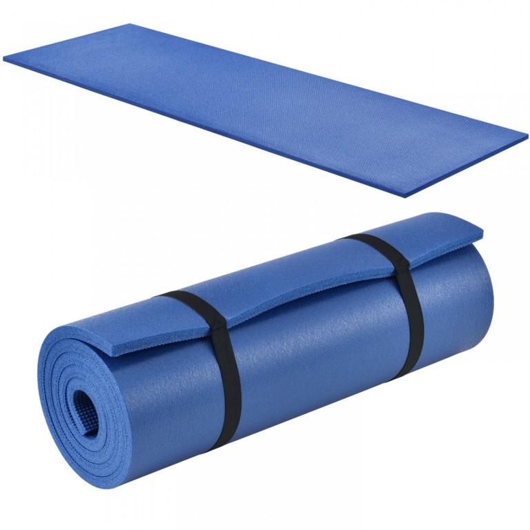 Gymnastická podložka na cvičení 185 x 60 x 1 cm, modrá
