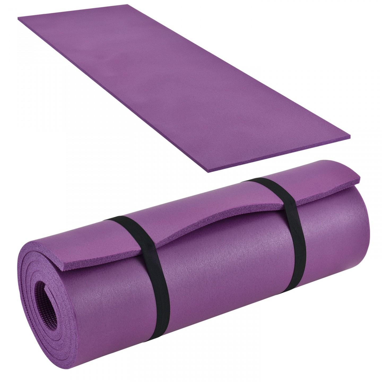 Goleto SPORT gymnastická podložka na cvičení fialová 185 x 60 x 1,5 cm