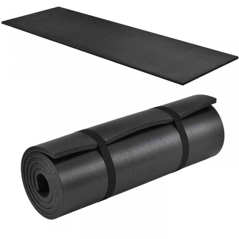 Gymnastická podložka na cvičení 185 x 60 x 1,5 cm, černá