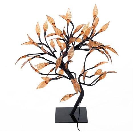 Dekorační svítící LED stromek s lístky 45 cm | teplá bílá