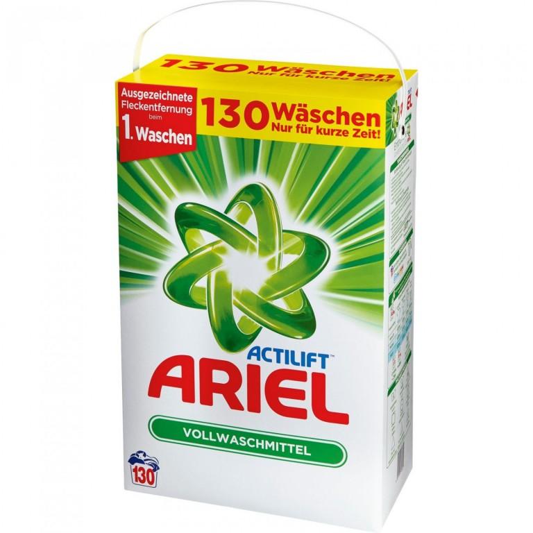Prací prášek Ariel Actilift XXXL 130 pracích dávek - Německo