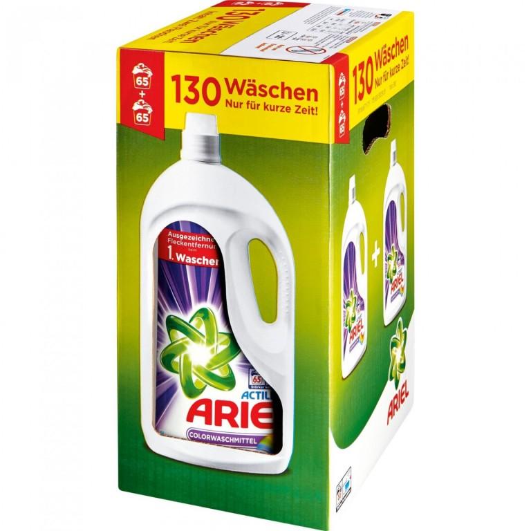 Ariel Actilift Color gel 130 (2x65) pracích dávek - Německo
