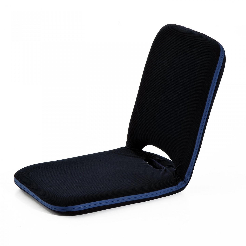 Goleto Polohovací sedák na zem s opěrkou 100 x 41 x 6,5 cm | černá