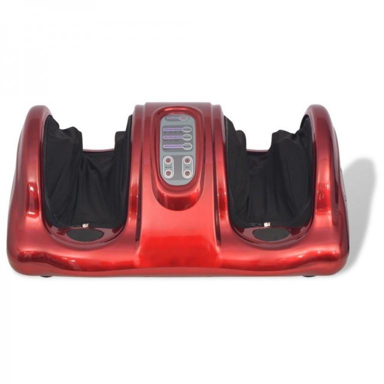 Shiatsu masážní přístroj na nohy, červený