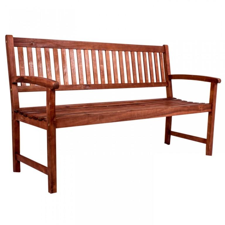 Zahradní lavička Bima pro 3 osoby | masivní akáciové dřevo