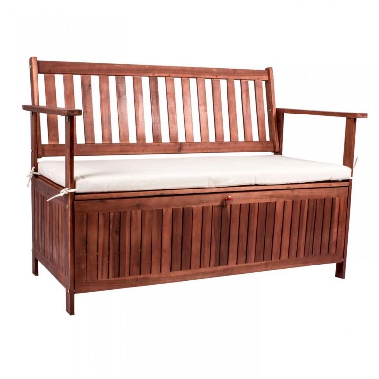Zahradní lavička San Pedro s úložným prostorem | masivní akáciové dřevo