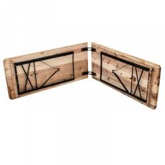 Skládací pivní set 220 x 50 x 25 cm | 3 nohy na lavici č.3