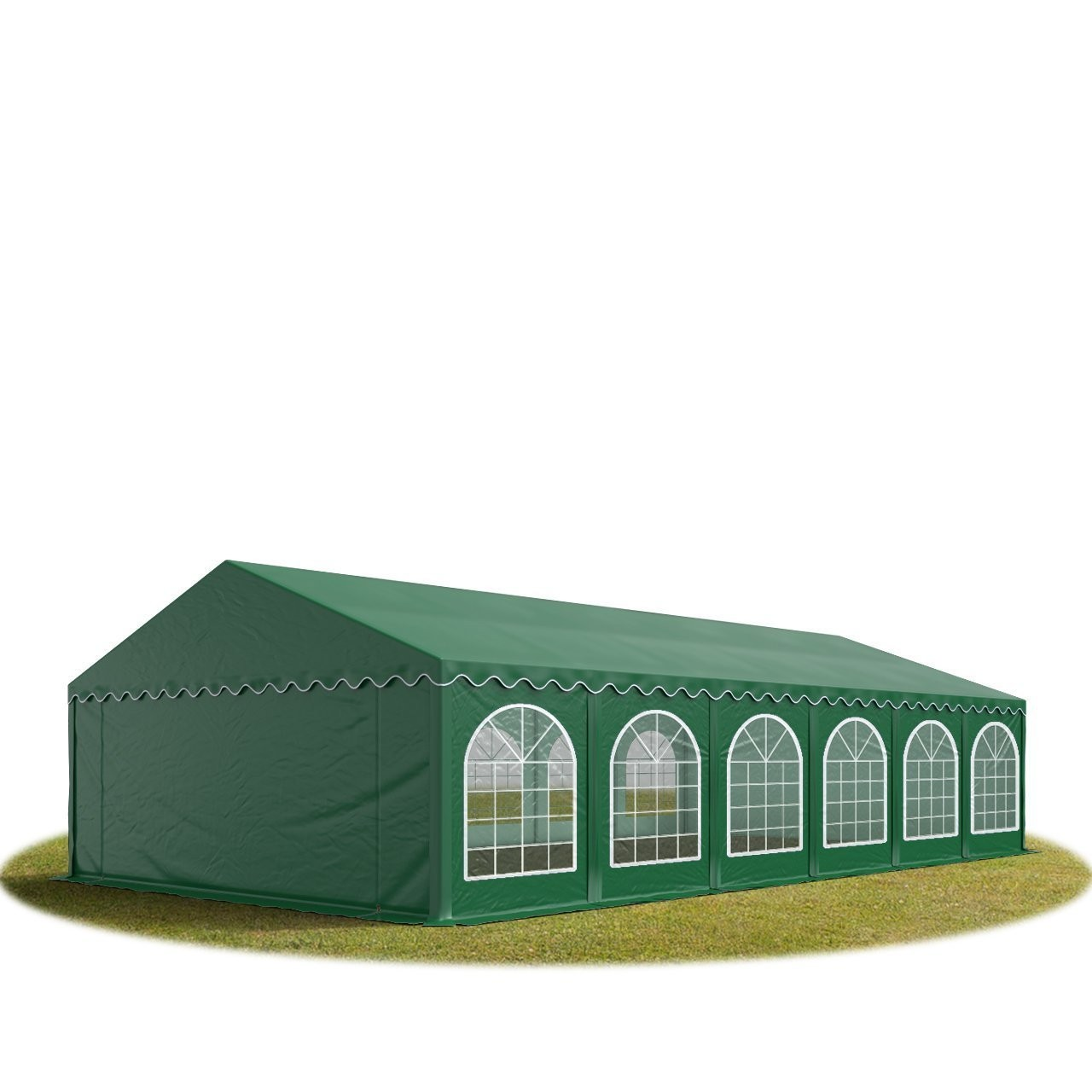 Goleto Párty stan Premium 6 x 12 m | tmavě zelený