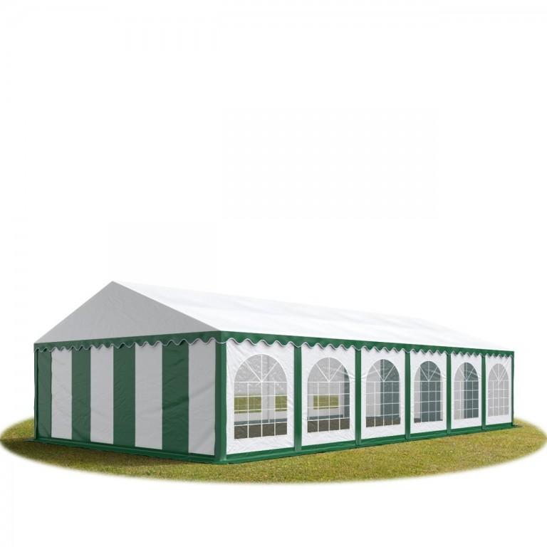 Párty stan Premium 6 x 12 m | zeleno-bílý