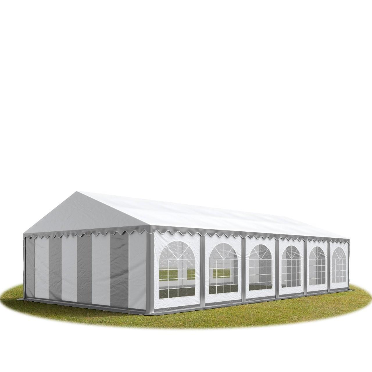 Goleto Párty stan Premium 6 x 12 m | šedo-bílý