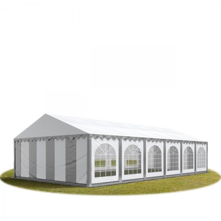 Párty stan Premium 6 x 12 m | šedo-bílý