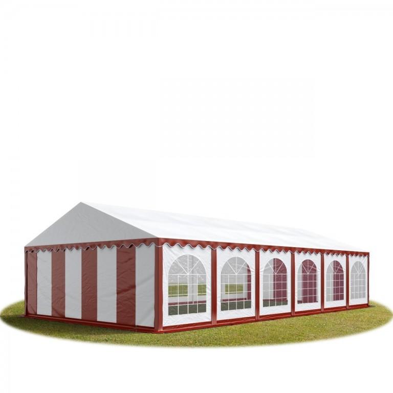 Párty stan Premium 6 x 12 m | červeno-bílý