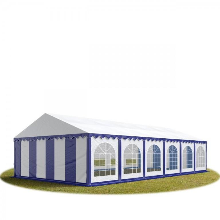 Párty stan Premium 6 x 12 m | modro-bílý