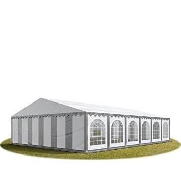 Párty stan Premium 8 x 12 m | šedo-bílý