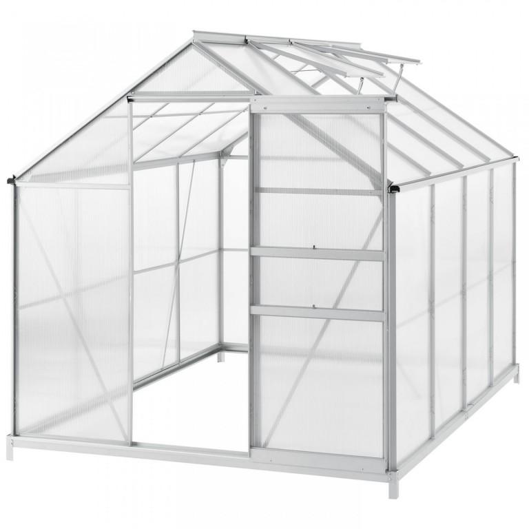 Zahradní polykarbonátový skleník 190 x 250 x 195 cm
