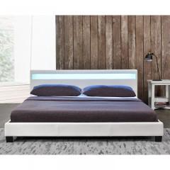 Čalouněná postel Paris s LED osvětlením 140 x 200 cm | bílá č.2