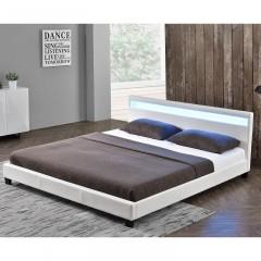 Čalouněná postel Paris s LED osvětlením 140 x 200 cm | bílá č.3