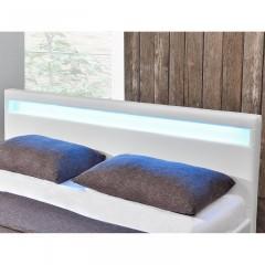 Čalouněná postel Paris s LED osvětlením 140 x 200 cm | bílá č.4