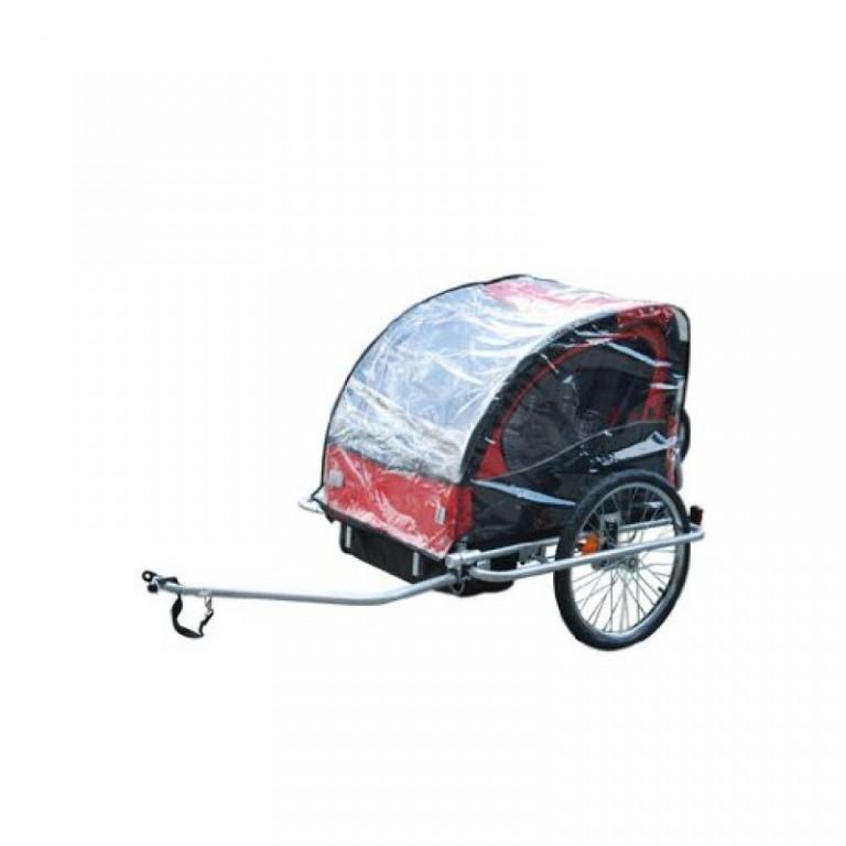 Pláštěnka na přívěsný vozík za kolo pro 2 děti