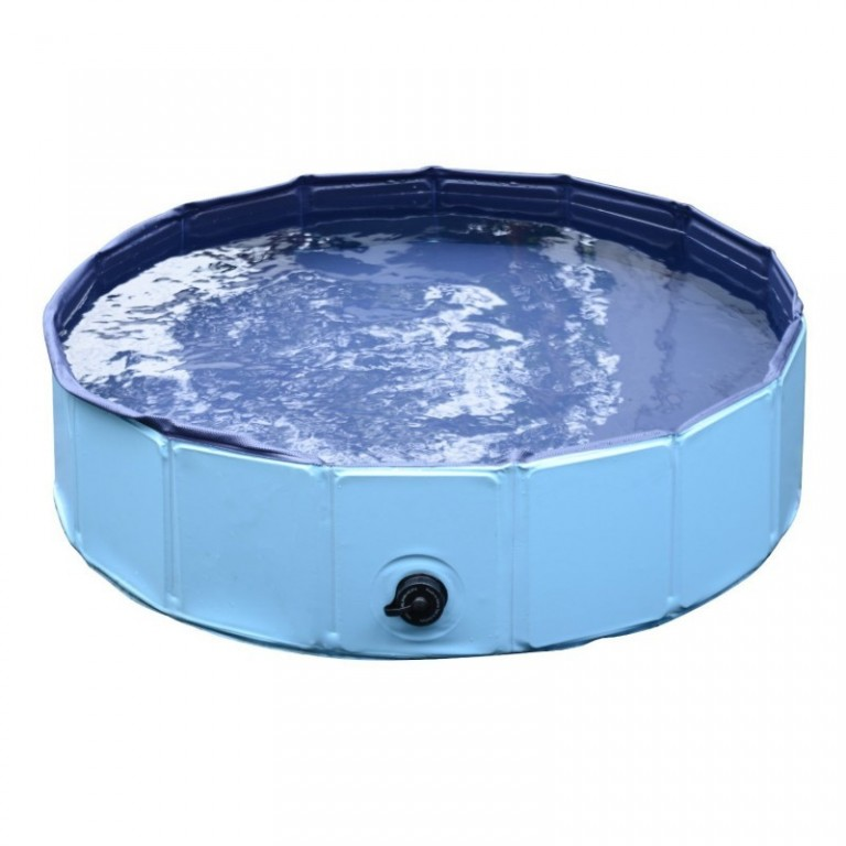 Skládací bazén pro psa 80 x 20 cm | modrý