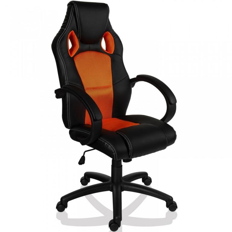 Kancelářská židle Racing design | oranžovo-černá