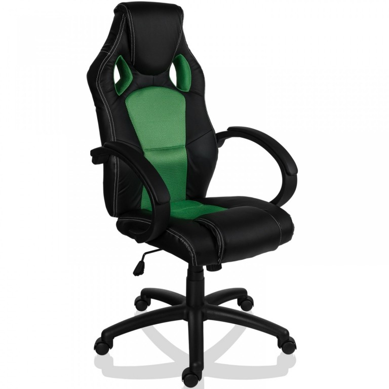 Kancelářská židle Racing design 2 | zeleno-černá