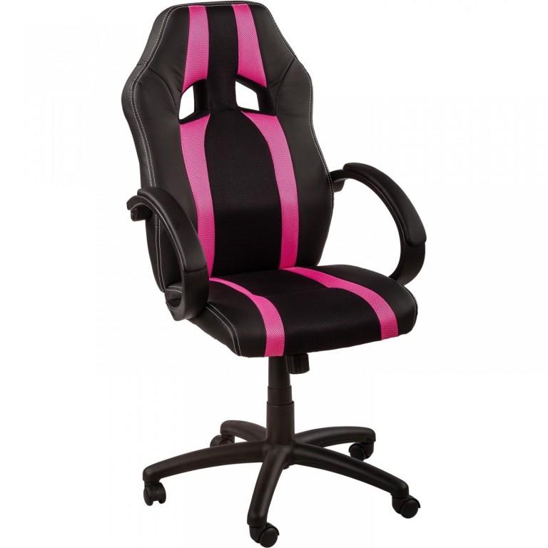 Kancelářská židle GS Series | růžovo-černá s pruhy