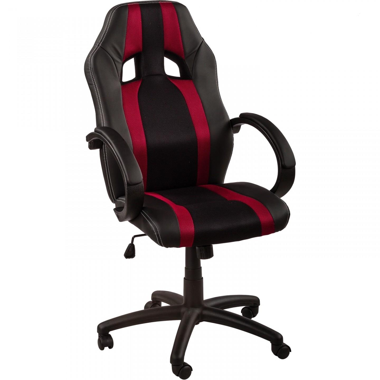 Goleto Kancelářská židle GS Series | vínovo-černá s pruhy