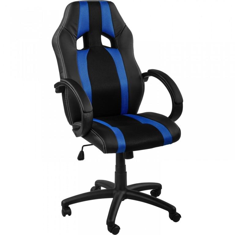 Kancelářská židle GS Series | modro-černá s pruhy