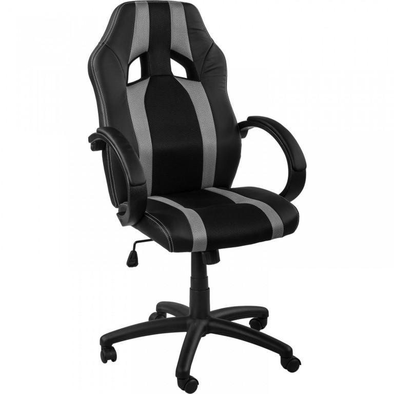 Kancelářská židle GS Series | šedo-černá s pruhy