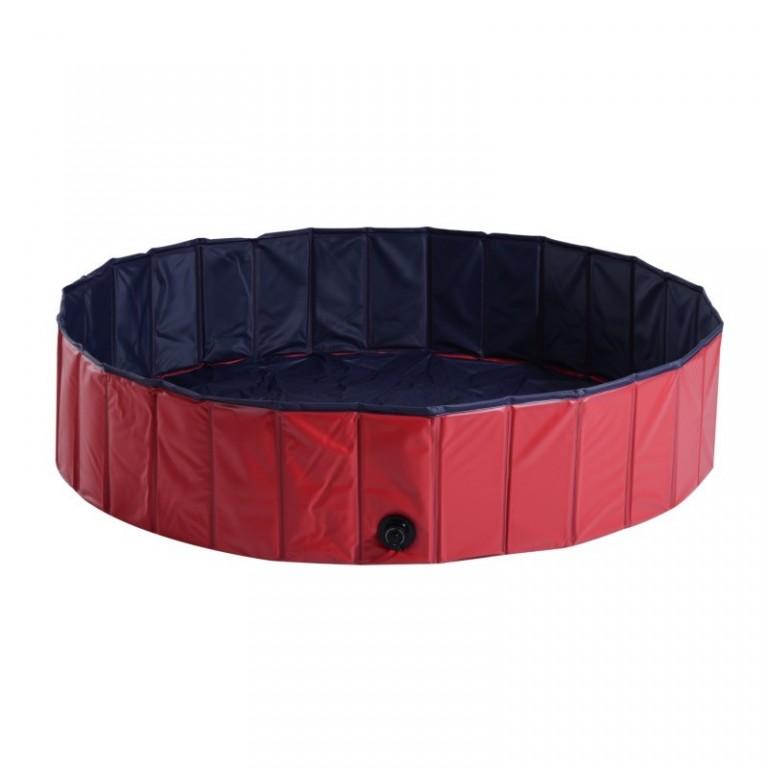 Skládací bazén pro psa 140 x 30 cm | červený