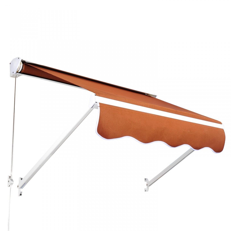 Goleto Zatahovací markýza 122 x 70 cm | hnědá