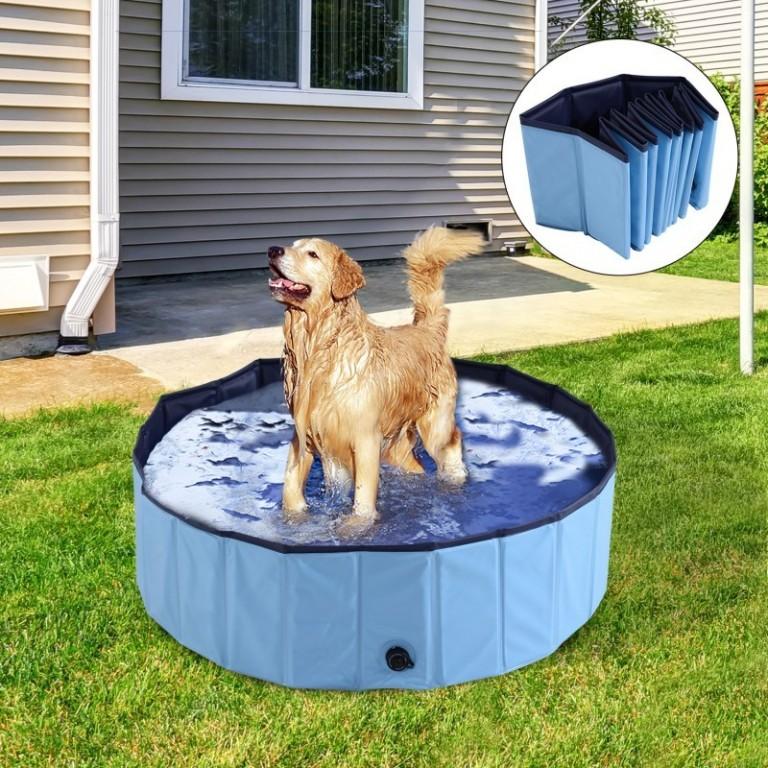 Skládací bazén pro psa 100 x 30 cm | modrý