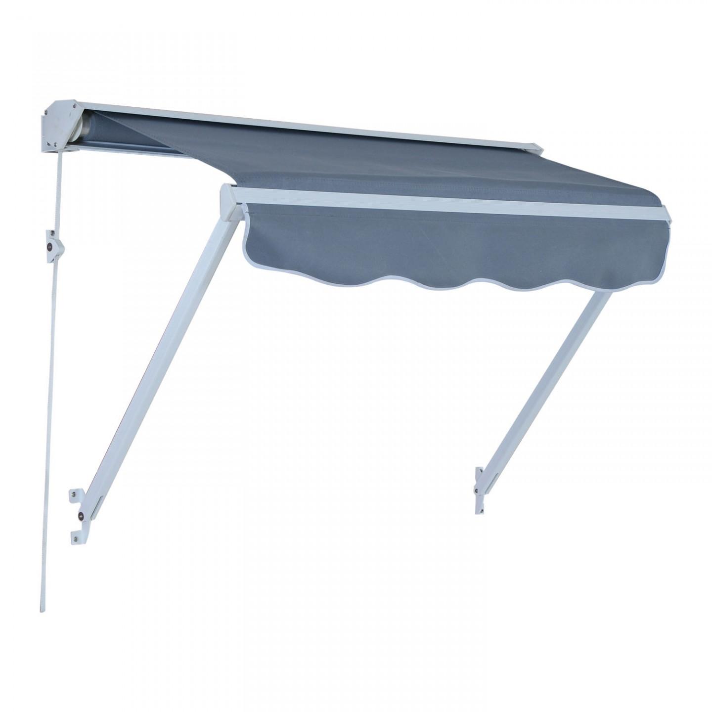 Goleto Zatahovací markýza 122 x 70 cm | šedá