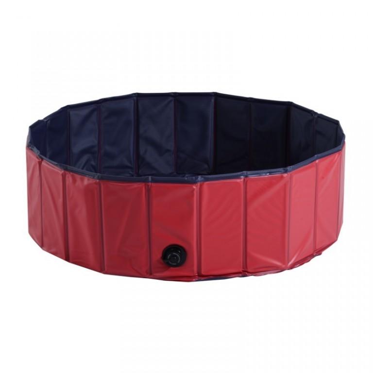 Skládací bazén pro psa 100 x 30 cm | červený