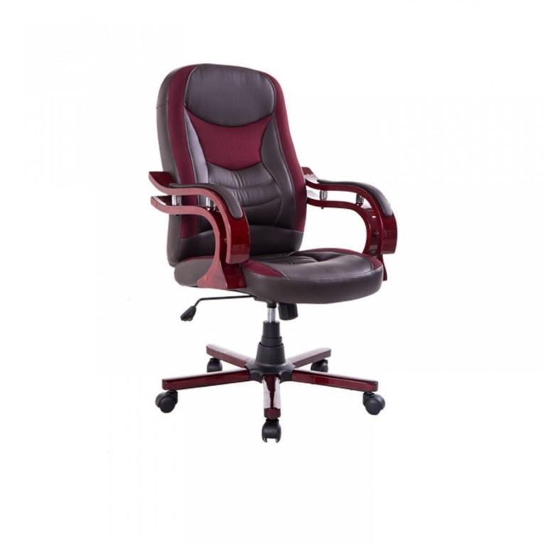 Kancelářská židle Taurus | hnědo-červená